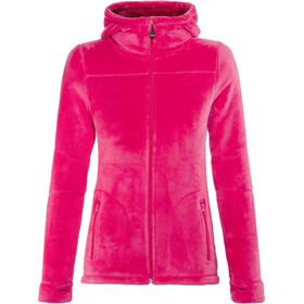 Meru W's Nunavut Hooded Teddy Fleece Jacket Virtual Pink